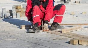 Pavimentando o tijolo Fotos de Stock Royalty Free