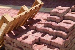 Pavimentando telhas Fotos de Stock