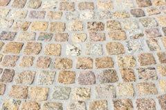Pavimentar trabalha com pedras do granito foto de stock