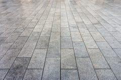 Pavimentazione bagnata delle piastrelle di ceramica fotografia stock libera da diritti