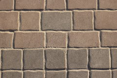 Pavimentazione in calcestruzzo di Brown Immagine Stock