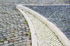 pavimentazione Ciottolo-lapidata Fotografia Stock Libera da Diritti