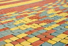 Pavimentazione colorata come fondo fotografia stock
