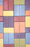 Pavimentazione colorata come fondo Fotografia Stock Libera da Diritti