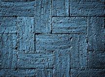 Pavimentazione dei mattoni bruciata blu grigio Fotografia Stock Libera da Diritti