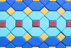 Pavimentazione del cemento del mattone dei quadrati e di esagono Fotografia Stock