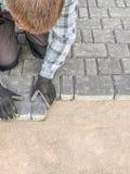 Pavimentazione del lavoro Fotografie Stock