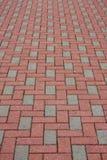 Pavimentazione del mattone Fotografie Stock