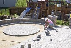 Pavimentazione del patio Immagine Stock