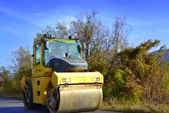 Pavimentazione del rullo compressore Immagine Stock