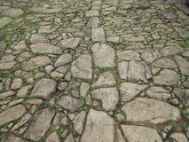 Pavimentazione del XVII secolo del mattone Fotografia Stock Libera da Diritti