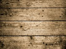 Pavimentazione di legno invecchiata Vista orizzontale delle plance di legno del pavimento fotografia stock