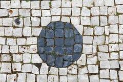 Pavimentazione di Lisbona Fotografia Stock
