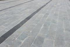 Pavimentazione di marmo come percorso del piede Fotografia Stock