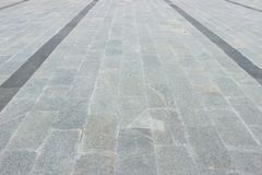 Pavimentazione di marmo come percorso del piede Immagine Stock Libera da Diritti