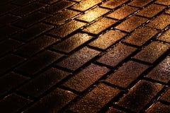 Pavimentazione di notte Fotografie Stock Libere da Diritti