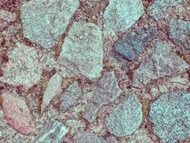 Pavimentazione di pietra come fondo della natura Fotografia Stock