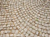 Pavimentazione di pietra del parco Fotografia Stock Libera da Diritti