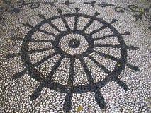 Pavimentazione di pietra Handmade Fotografia Stock