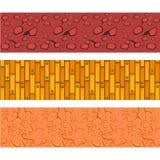 Pavimentazione e Clay Patterns Set appannati e laminati Fotografia Stock