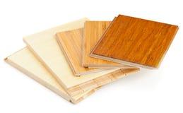 Pavimentazione laminata del bambù Fotografie Stock