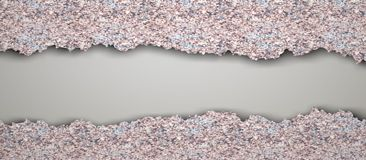 Pavimentazione in piastrelle d'annata strappata illustrazione vettoriale
