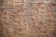 Pavimentazione in piastrelle marrone del blocco fotografia stock