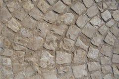 Pavimentazione pietrosa circolare Fotografia Stock