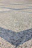 Pavimentazione portoghese Fotografia Stock