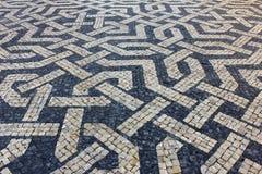 Pavimentazione portoghese Fotografie Stock