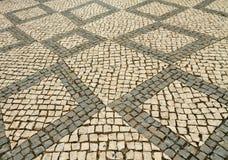 Pavimentazione portoghese di stile Fotografia Stock Libera da Diritti