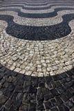 Pavimentazione portoghese, Lisbona, Portogallo Fotografie Stock Libere da Diritti