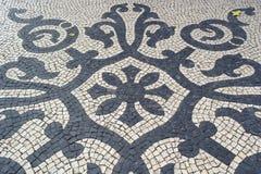 Pavimentazione portoghese, portuguesa di calcada Immagini Stock