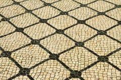 Pavimentazione portoghese tipica Fotografia Stock