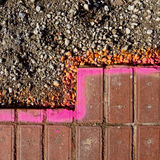 Pavimentazione pronta per la riparazione Immagini Stock