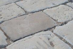 Pavimentazione romana Fotografia Stock