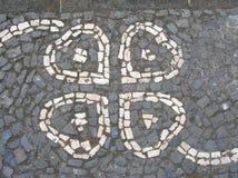 Pavimentazione strutturata del cobblestone Immagini Stock
