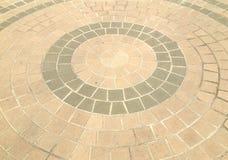Pavimentazione in un modello del cerchio Fotografia Stock Libera da Diritti