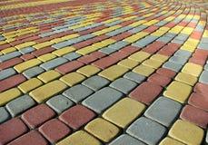 Pavimentazione variopinta fotografia stock