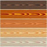 Pavimentazioni di legno messe Fotografia Stock Libera da Diritti