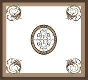 Pavimenti floreali della decorazione del marmo del modello illustrazione vettoriale
