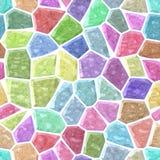 Pavimenti il fondo senza cuciture di marmo del modello di mosaico di malta liquida bianca - spettro di colori pastello dolce legg Fotografie Stock Libere da Diritti