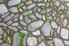 Pavimento áspero de las piedras del río Imagen de archivo libre de regalías