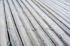 Pavimento all'aperto di legno grigio del terrazzo Immagine Stock Libera da Diritti