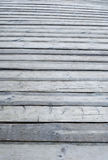 Pavimento all'aperto di legno grigio del terrazzo Fotografia Stock