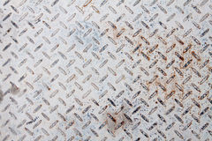Pavimento arrugginito bianco del piatto d'acciaio immagini stock