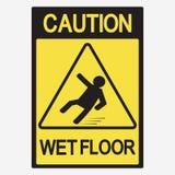Pavimento bagnato di avvertenza illustrazione vettoriale