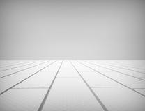 Pavimento bianco di legno e della parete Fotografie Stock Libere da Diritti