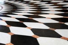 Pavimento in bianco e nero Fotografie Stock