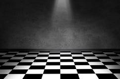 Pavimento in bianco e nero del controllo Immagini Stock
